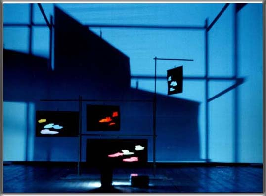 "miniature model (scale 1:100) of an audio-visual installation - Conservatorio ""G.Verdi"" - Milan, September 1986"